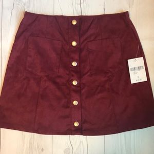 Forever 21 Button Front Corduroy Skirt